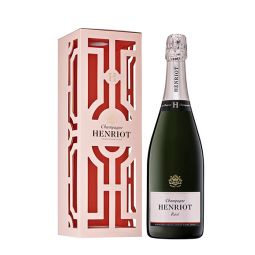 Henriot Rose Brut NV with Les Aulnois metal gift box